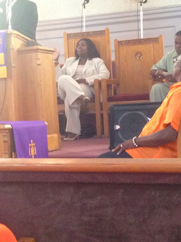 Preaching at Gibson Temple Baptist church